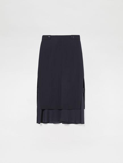 Tiered Flounce Midi Skirt