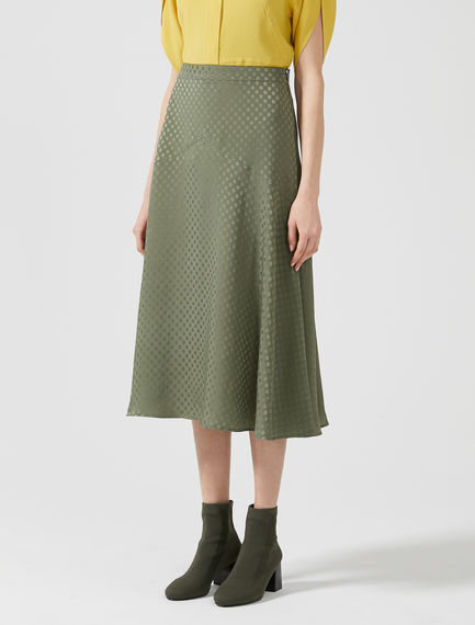 Dotty Jacquard Waterfall Skirt