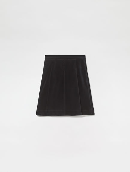 Velvet Pleated Mini Skirt