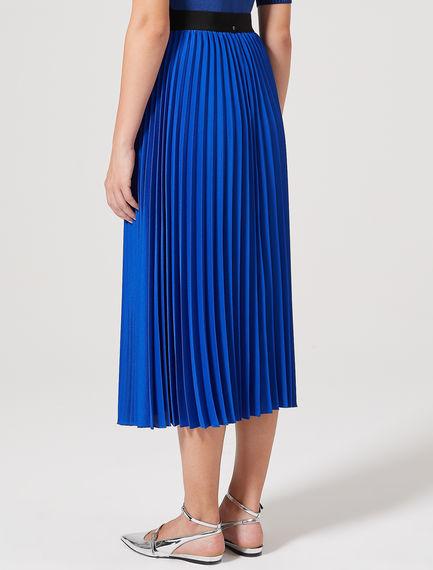 Lustrous Sunray Pleat Crepe Skirt