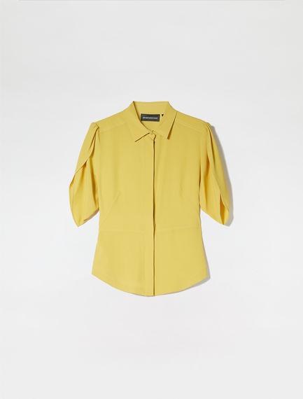 Tulip Sleeve Crepe Shirt