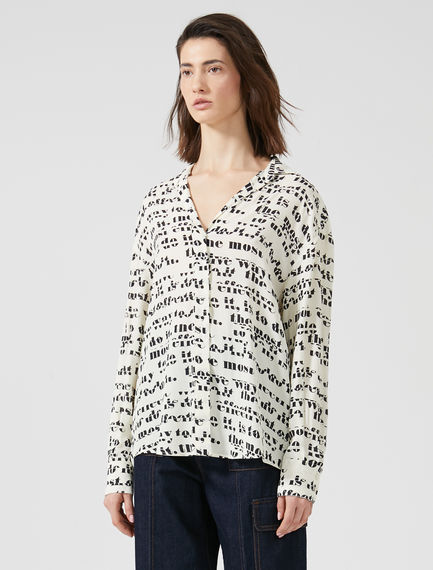 Prose Print Aviation Shirt