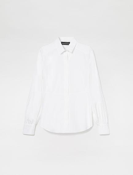 Puff Sleeve Poplin Shirt