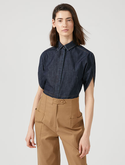 Tulip Sleeve Denim Shirt Sportmax
