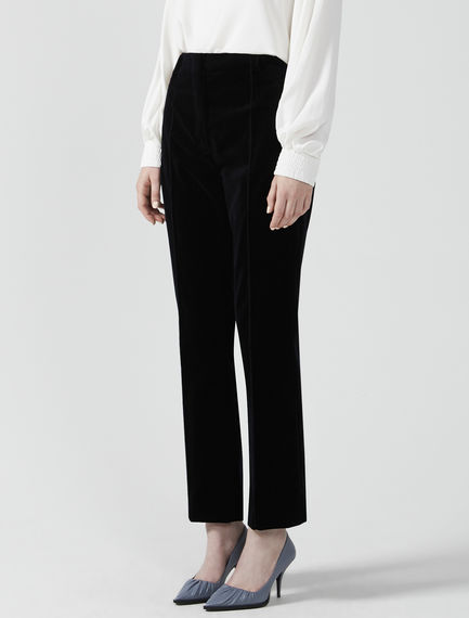 Velvet Kick Flare Trousers