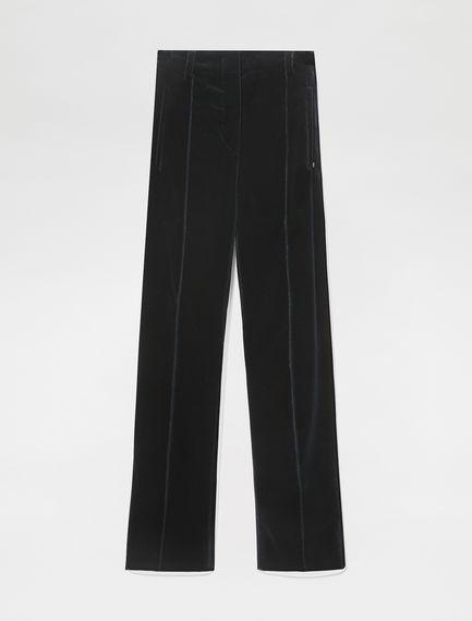Pantaloni flare in velluto