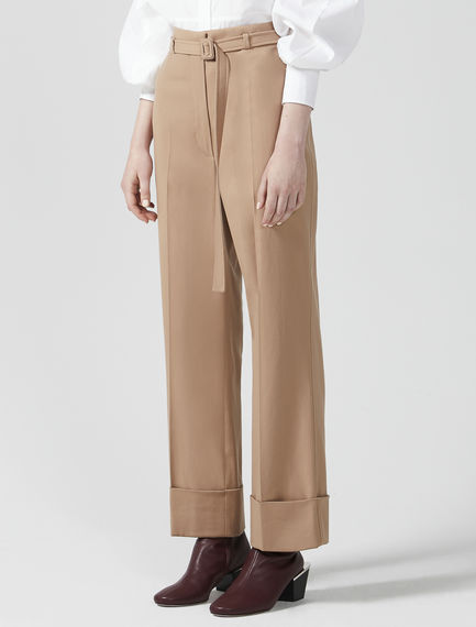 Turn-Up Twill Trousers