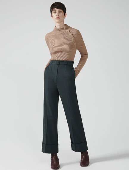 Turn-Up Twill Trousers Sportmax