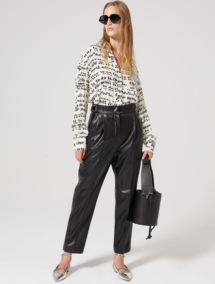 Tapered Eco Leather Trousers