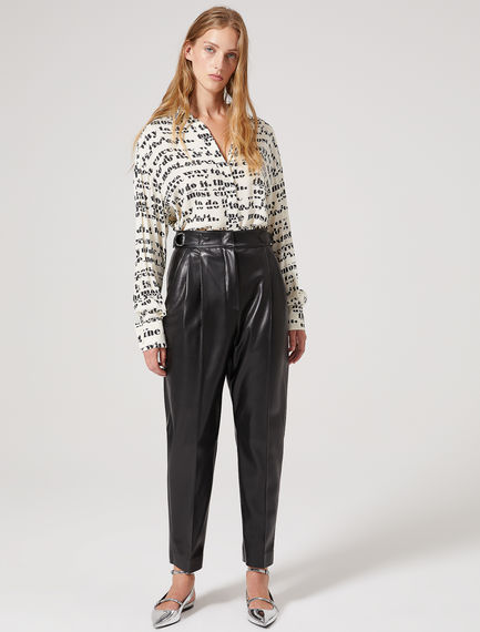 Tapered Eco Leather Trousers Sportmax