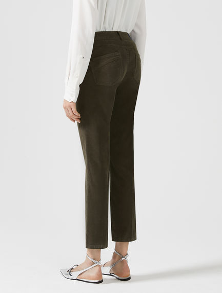 Cropped Low-rise Denim Flares