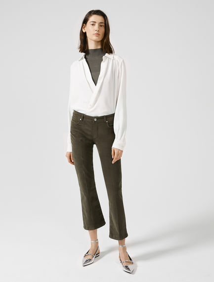 Cropped Low-rise Denim Flares Sportmax