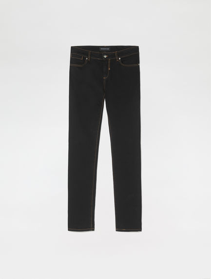 Black Skinny Fit Cropped Jeans