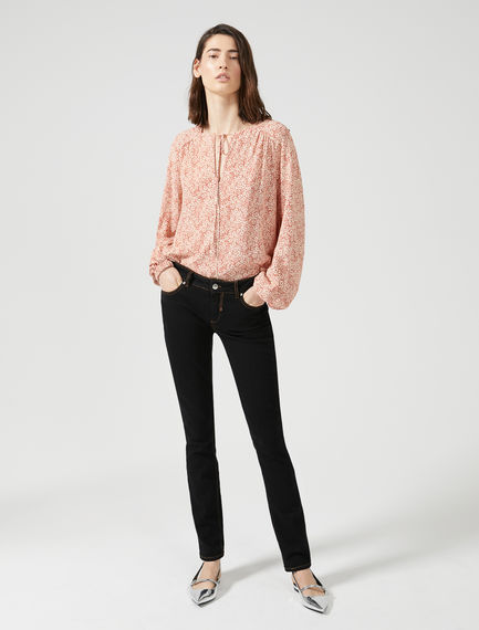 Black Skinny Fit Cropped Jeans Sportmax