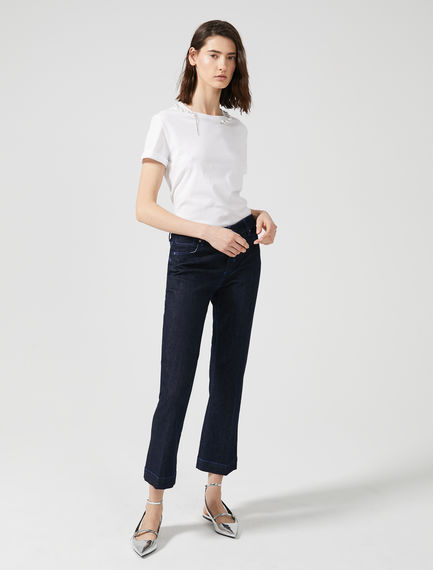 Top-stitched Low-rise Flared Jeans Sportmax