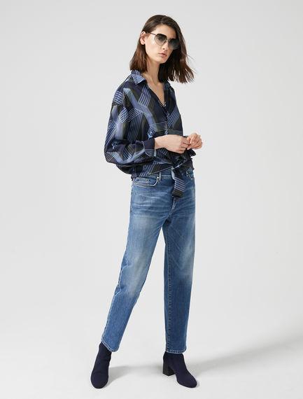 Jeans boyfriend a vita bassa