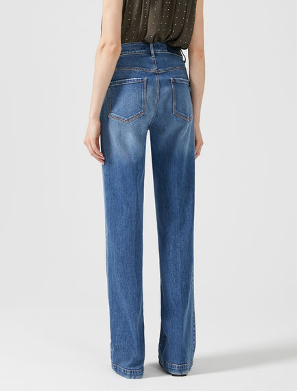 High-rise Triple-stitch Jeans