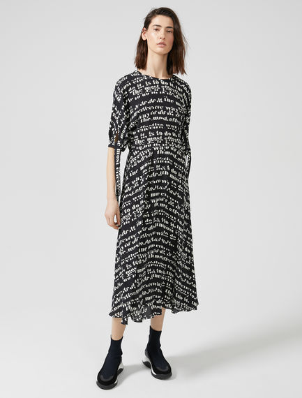 Prose Print Crêpe Aviation Dress Sportmax