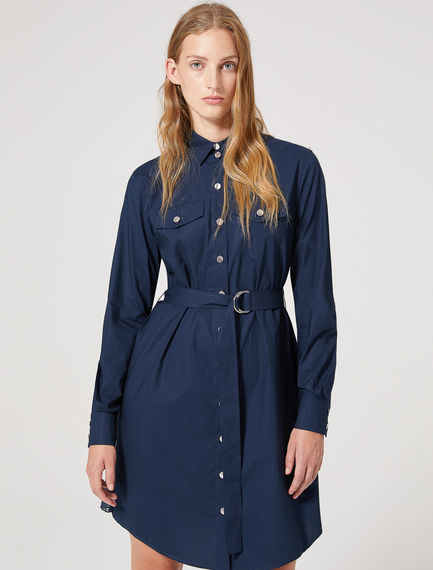 Pleat-back Poplin Shirt Dress Sportmax