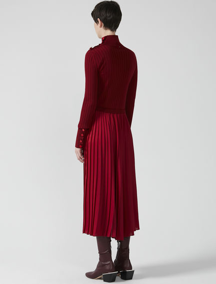 Hybrid Sunray Pleat Dress Sportmax