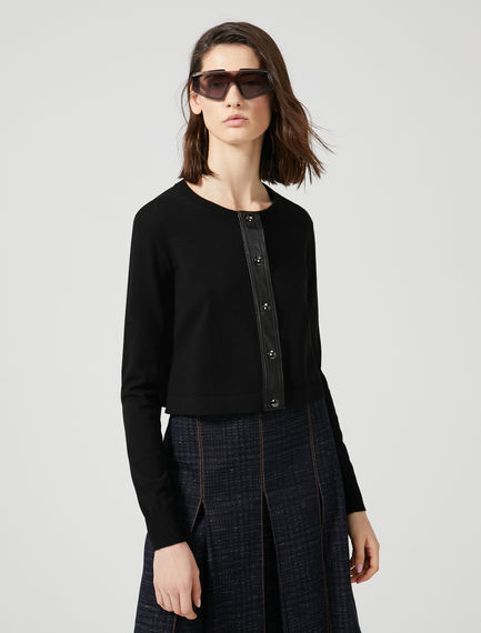 Viscose & Eco Leather Cardigan Sportmax