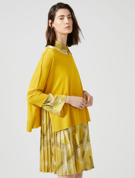Oversized Silk & Viscose Sweater Sportmax