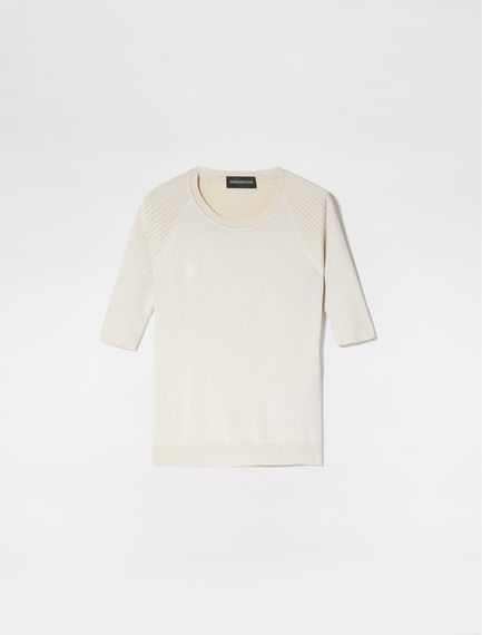 Ribbed Raglan Sleeve T-Shirt