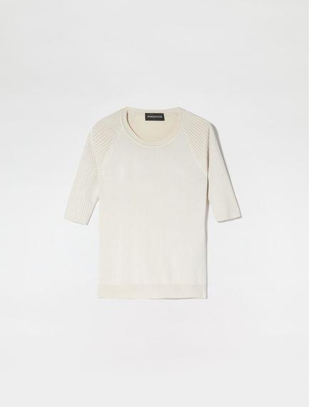 Ribbed Raglan Sleeve T-Shirt