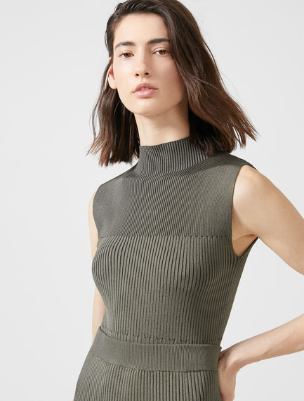 Two-tone Tricot Knit Top Sportmax