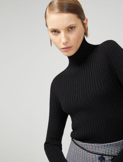 Ribbed Wool Roll Neck Sweater Sportmax