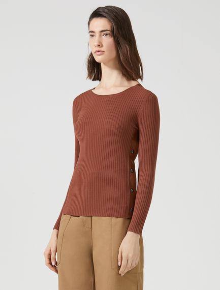 Side Slit Rib Sweater