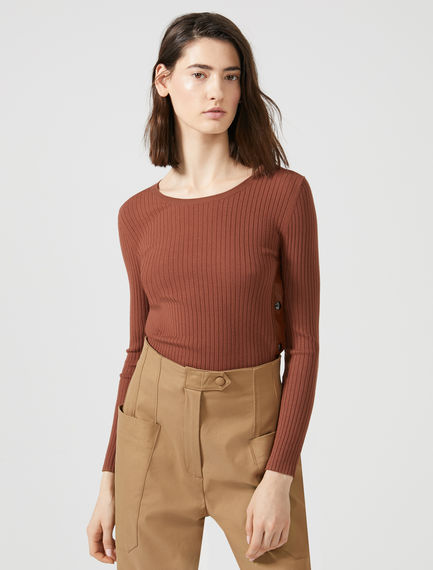 Side Slit Rib Sweater Sportmax