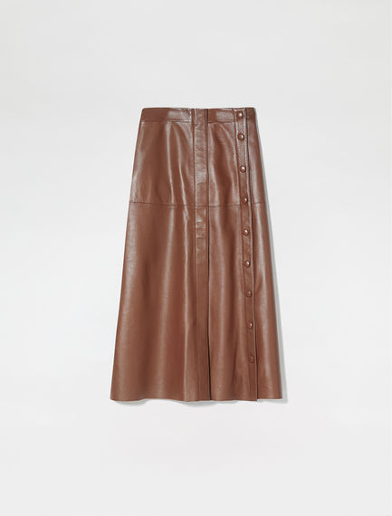 Nappa Leather Aviation Skirt