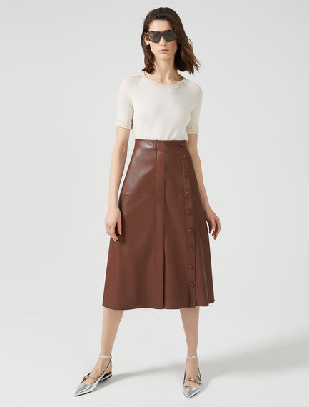 Nappa Leather Aviation Skirt Sportmax