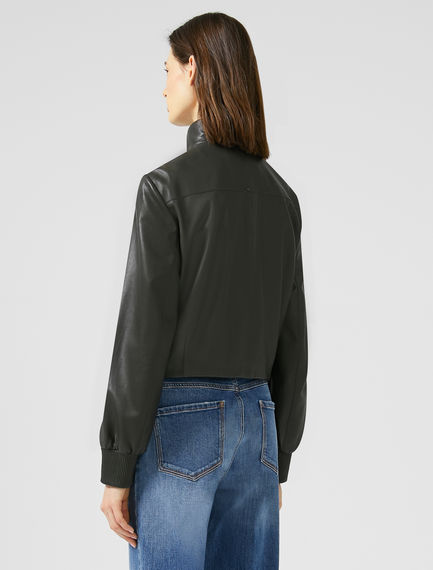 Nappa Leather Bomber Jacket Sportmax