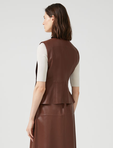 Nappa Leather Gilet