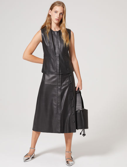 Nappa Leather Gilet Sportmax