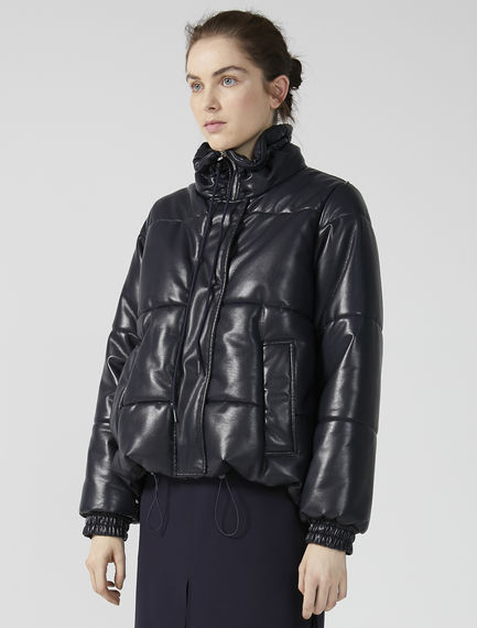Eco Leather Transforming Puffer Jacket