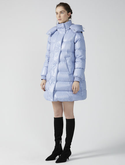 Transforming Trapezoid Puffer Coat