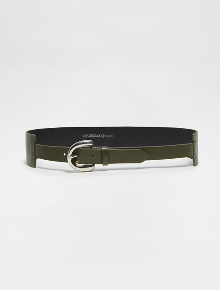Rounded-Buckle Nappa Belt Sportmax
