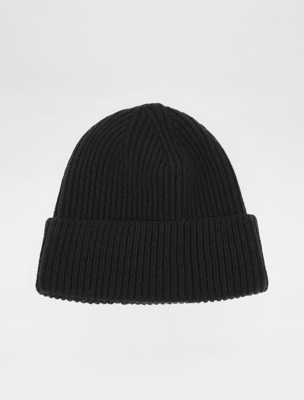 Ribbed Wool Beanie Hat Sportmax