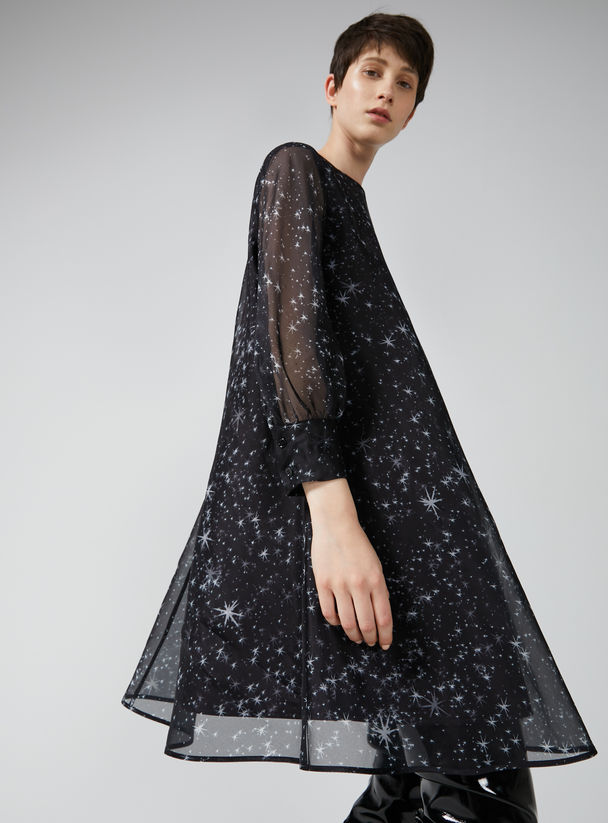 Layered Silk Organza Star Dress Sportmax