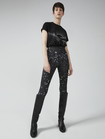 Star Print Leggings Sportmax