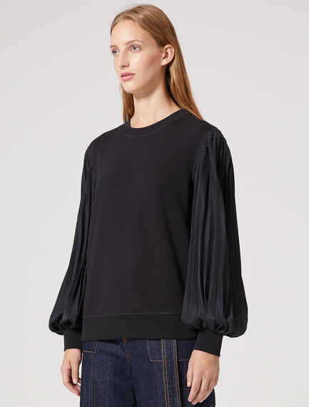 Crêpe Sleeve Sculpted Sweatshirt Sportmax
