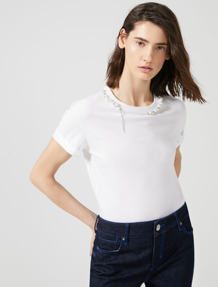 Gem Embellished T-Shirt Sportmax