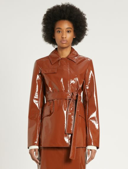 Patent leather trench coat Sportmax