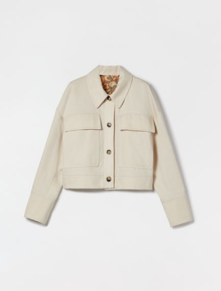 Reversible jacket in cotton and linen gabardine Sportmax