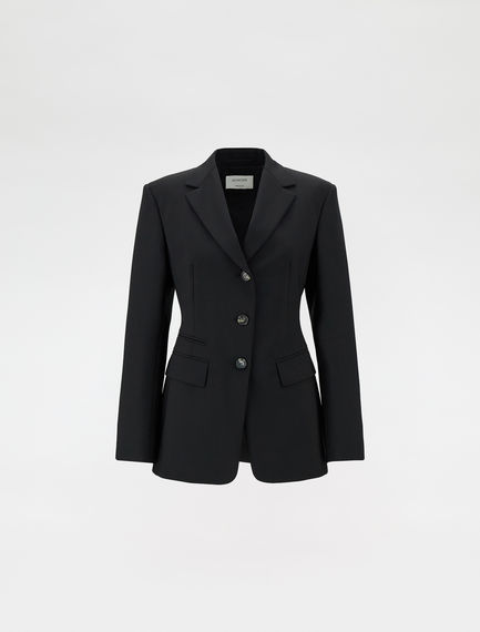 Stretch wool blazer