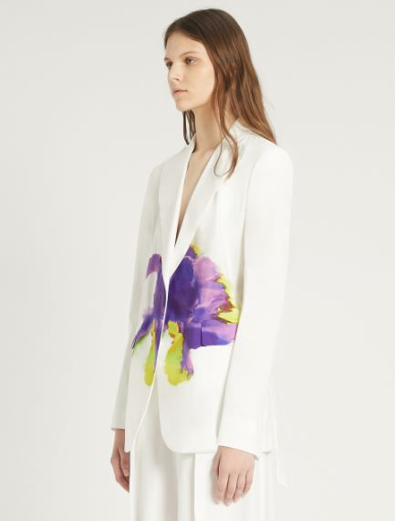 Cotton poplin blazer