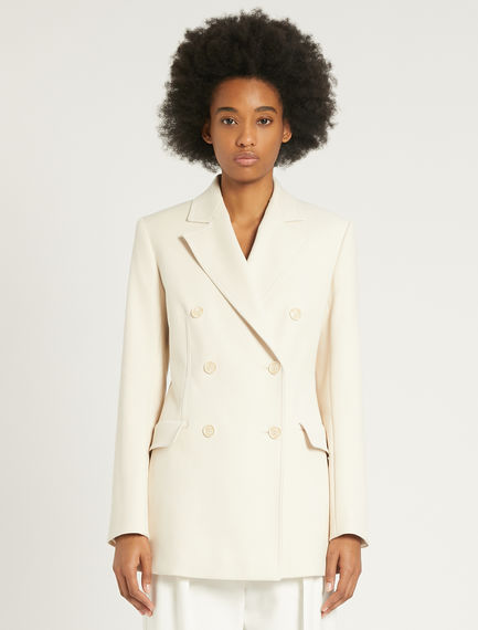 Stretch cotton double-breasted blazer Sportmax